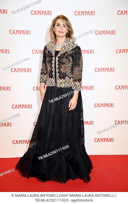 Angelica Russo during the Red Premium Campari Red Diaries, Rome, ITALY-25-01-2017