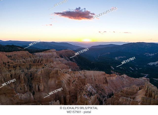 Sunset at Cedar Breaks National Monument, Cedar City, Utah, USA