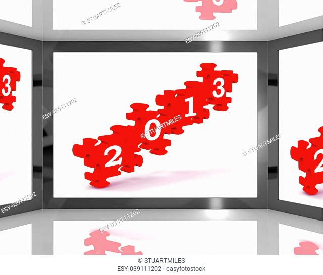 2013 On Screen Showing Future Televisions Or New Year's Resolutions
