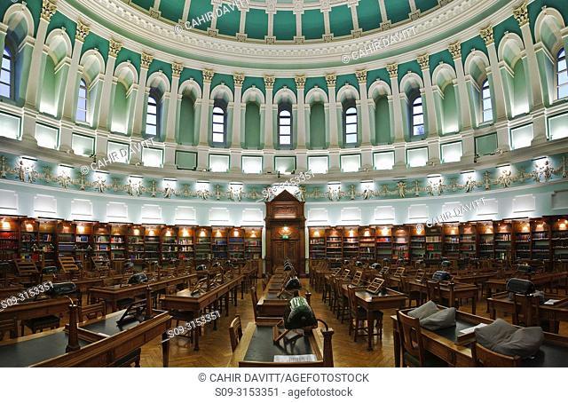 Ireland, Dublin, Kildare Street, The National Library of Ireland, The Reading Room