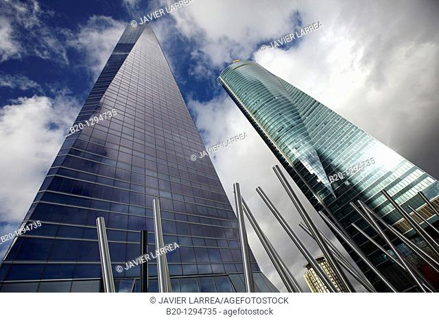 Torre de Cristal and Torre Espacio, CTBA, Cuatro Torres Business Area, Madrid, Spain