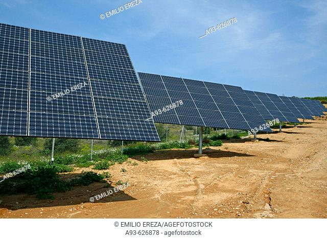 Solar panels. Puiggròs, Lleida province, Catalonia, Spain