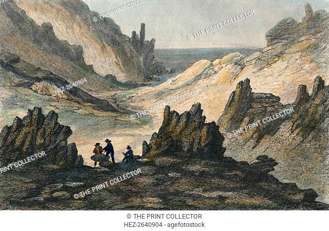 'Ravins Volcaniques et Montagne de Cendre', c19th century. Artist: Unknown