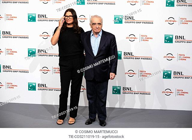 Martin Scorsese, Emma Tillinger Koskoff during 'The Irishman' film photocall at 14th Rome Film Fest, Rome, Italy 21/10/2019