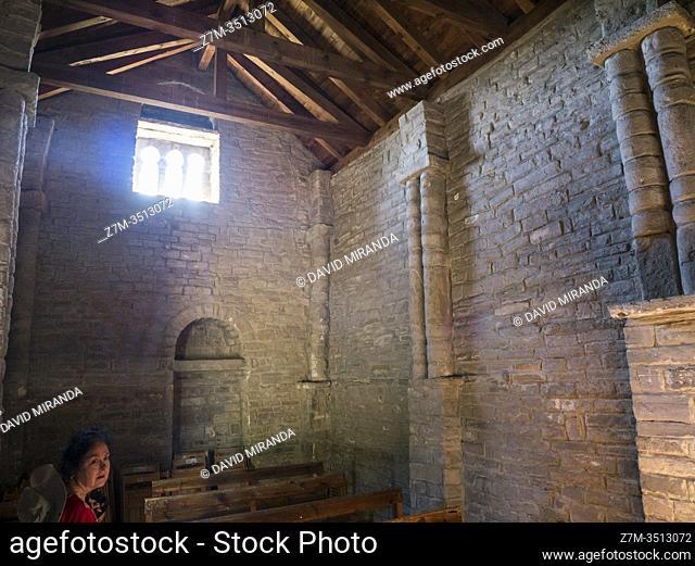 Iglesia de San Juan de Busa o San Juan Bautista de Busa. Biescas. Huesca. Aragón. Pirineos. España