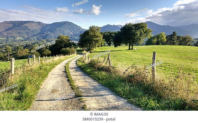 Rural landscape near Ceceda, Nava, Asturias, Spain