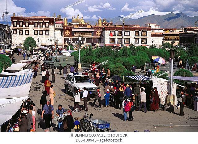 Jokhang temple square, Lhasa. Tibet, China
