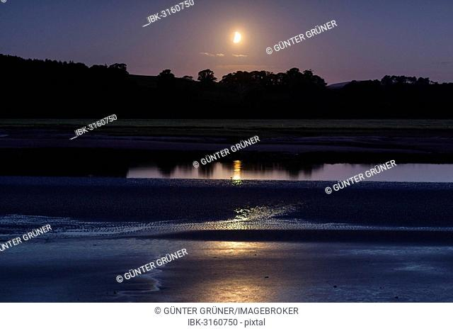 The River Nith at night, Dumfries and Galloway, Scotland, United Kingdom