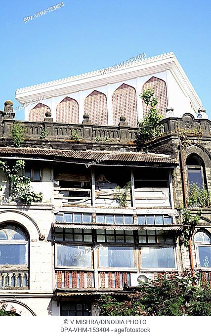 Old building and skyscraper Haj house ; Ramabai Ambedkar road ; Bombay Mumbai ; Maharashtra ; India