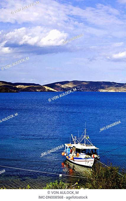 Greece, Dodecanese, Patmos, fish boat