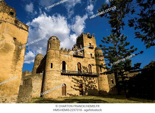 Ethiopia, Gondar, middle age castles of the Fasilidas dynasty, listed as World Heritage by UNESCO