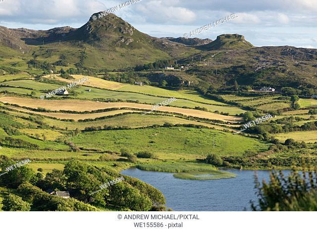 Emerald Isle. Rolling hills near Fanad head, north Donegal, Republic of Ireland