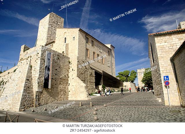 Picasso museum, the old town of Antibes, France