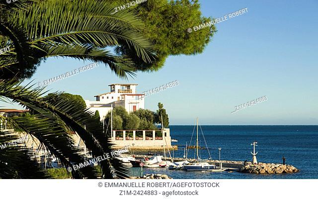 The Villa Kerylos, greek palace, National heritage site, built by Theodore Reinach, Beaulieu sur Mer, Alpes Maritimes, Provence Alpes cote d'Azur, PACA, France