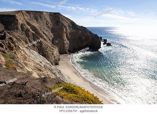 Cove beach along Point Reyes - Point Reyes National Seashore, Marin County, California, USA