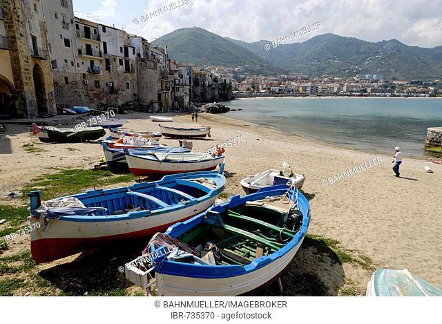 Beach Cefalù Sicily Sicilia Italy Italia