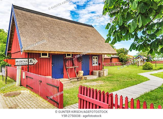 The Ethnographic fishing homestead is a museum in Nida. Nida (Nidden) is a village on the Curonian Spit to the Baltic Sea