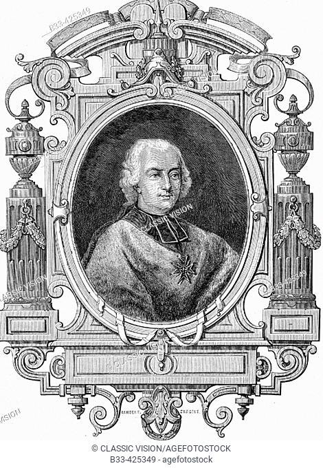 Cardinal de Rohan, Louis René Éduoard, 1734-1803. Prince de Rohan-Guemenée. Archbishop of Strasbourg. From 'Histoire de la Revolution Francaise' by Louis Blanc