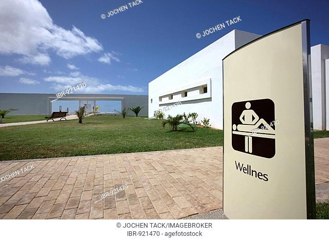 Wellnes board, Spa and Wellness in Hotel Riu Palace Tres Islas, Fuerteventura, Canary Islands, Spain, Europe