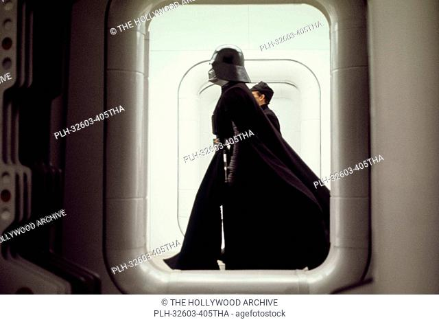 Darth Vader on the Tantive IV set in Star Wars Episode IV: A New Hope (1977)