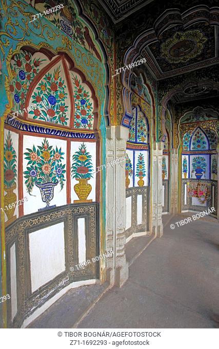 India, Rajasthan, Shekhawati, Nawalgarh, Morarka Haveli