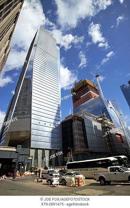 hudson yards urban renewal project featuring 10 hudson yards New York City USA