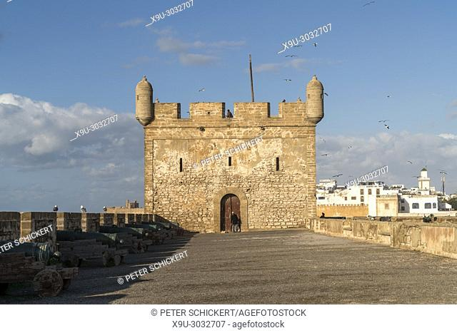 harbour tower Scala du Port in Essaouira, Kingdom of Morocco, Africa