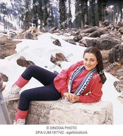 1987, Portrait of Indian film actress Mandakini