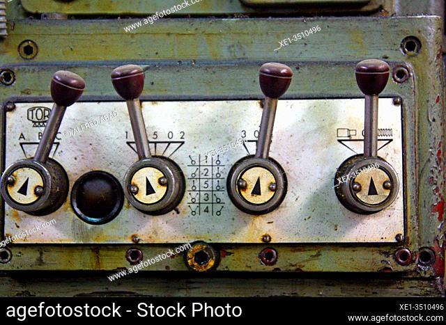 forging machine controls, Baulenas-Canet forging workshop, Sant Feliu de Codines, Catalonia, Spain