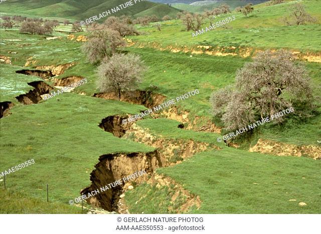Gully Erosion Kern Co., CA, California