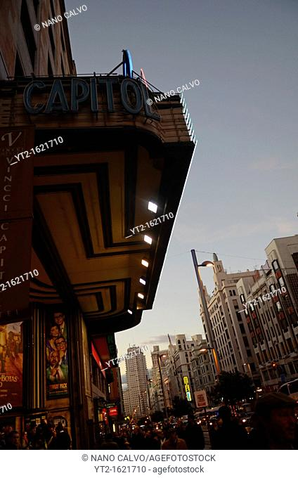 Capitol Cinema and Theatre, Gran Via, Madrid
