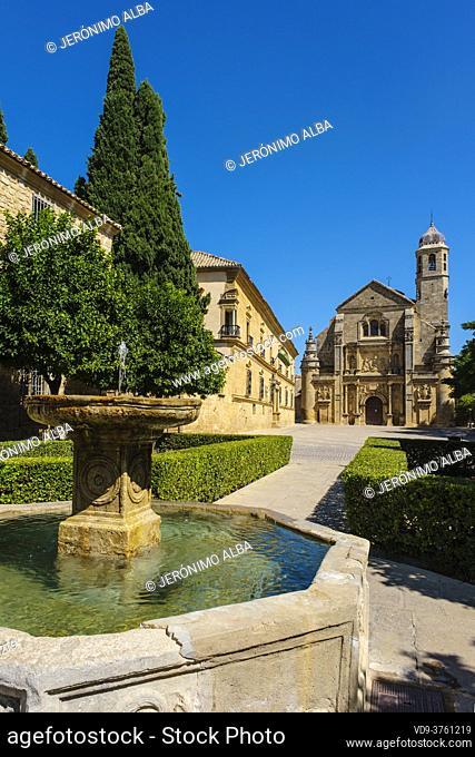 Sacra Capilla del Salvador del Mundo. XVIth century chapel of the Savior, Vazquez de Molina Square. Ubeda, UNESCO World Heritage Site