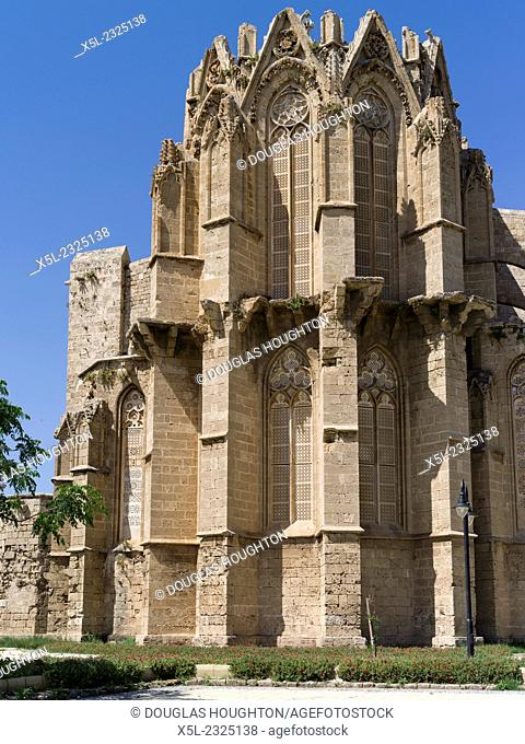 Old Town FAMAGUSTA NORTHERN CYPRUS Lala Mustafa Pasha Mosque