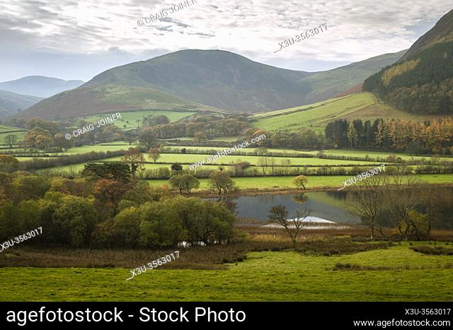 Autumnal scene at Loweswater in the Lake District National Park, Cumbria, England