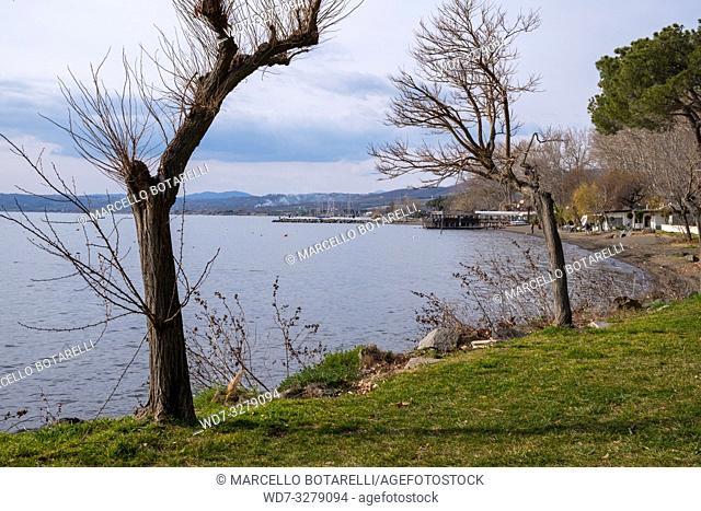 Landscape of Bolsena lake, Lazio, Italy