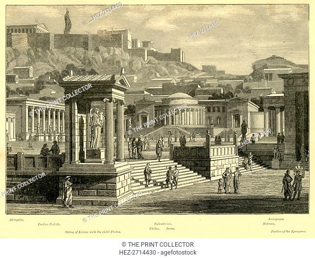 'Agora of Athens (restored)', 1890. Creator: Unknown