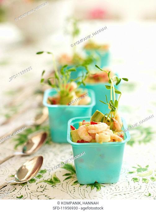 Shrimp ceviche for a summer festival