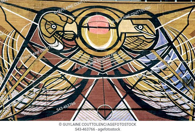 Murales De Diego Rivera En Ciudad Universitaria