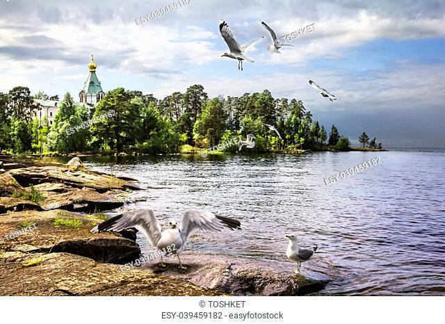 Valaam Island, Lake Ladoga. Nikitsky monastery. Church of St. Nicholas the Wonderworker