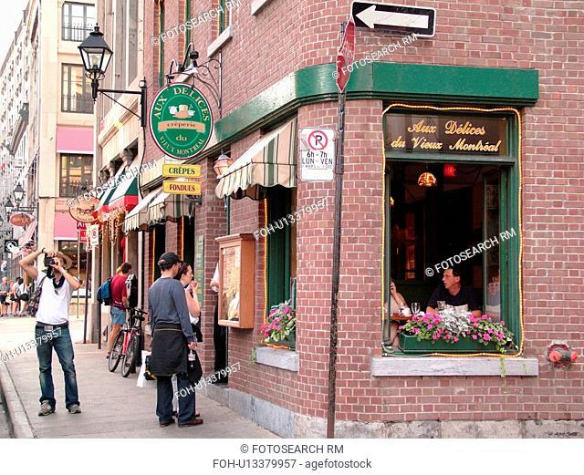 Montreal, Canada, QC, Quebec, Old Port, Old Montreal, Rue Saint Paul, restaurant