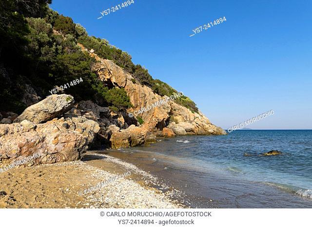 Psili Ammos beach, Western Samos island, North Aegean islands, Greece, Europe