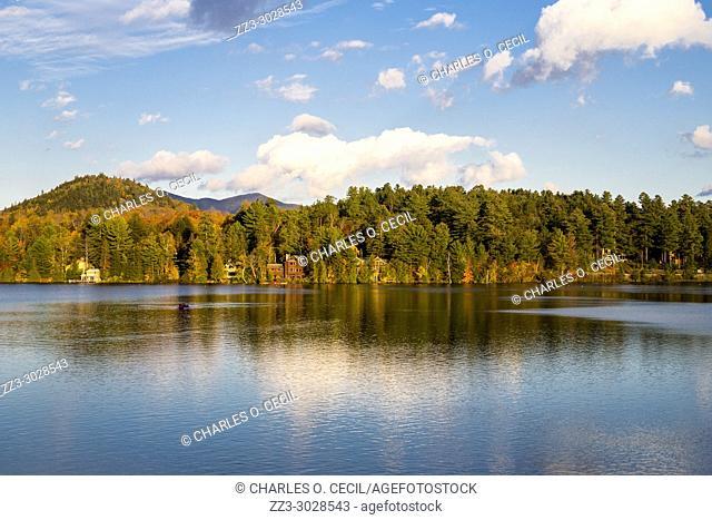 Lake Placid, New York. Mirror Lake