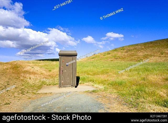 Outhouse toilet, Northern California, USA