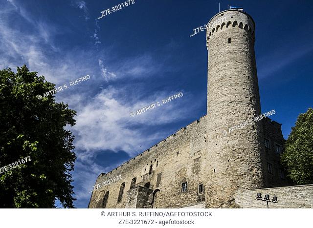 Tall Hermann Tower (Pikk Hermann), Toompea Castle, Toompea Hill, Old Town, Tallinn, Estonia