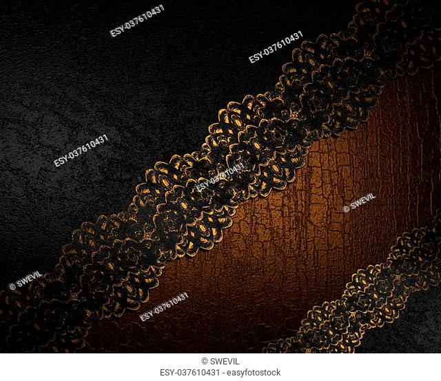 Black and brown wood background with flowers