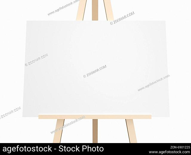 Close up blank white presentation board, empty space, isolated on white background