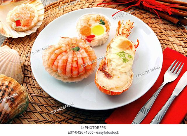 a delicious fresh specialties of shellfish