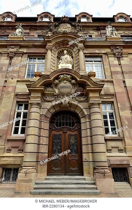 Town hall, Maximilianstrasse street, Via Triumphalis street, Speyer, Rhineland-Palatinate, Germany, Europe, PublicGround