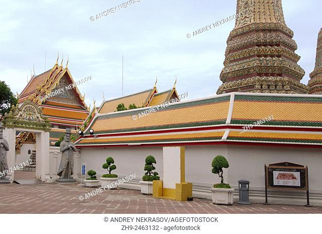 Phra Mondop of Wat Pho - Temple of the Reclining Buddha, its official name is Wat Phra Chetuphon Vimolmangklararm Rajwaramahaviharn, Phra Nakhon district