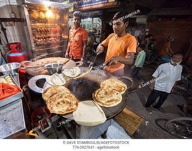 Making paratha, Dhaka, Bangladesh
